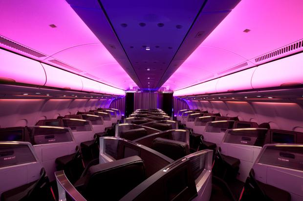 virgin atlantic airways upper class bar and cabin by vwbs studio