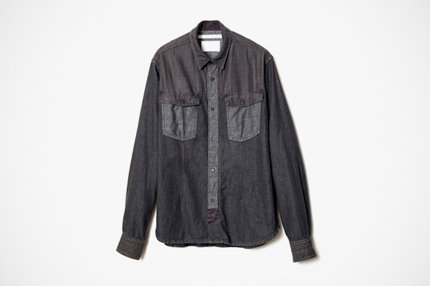 White Mountaineering 2012 Spring/Summer Black Indigo Denim Shirts