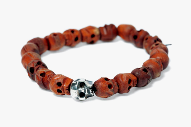 "WTAPS 2012 Spring/Summer ""BETTER THAN YESTERDAY"" Silver and Wood Bracelet"