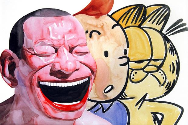 Yue Minjun Series of Lithographs @ Carmichael Gallery