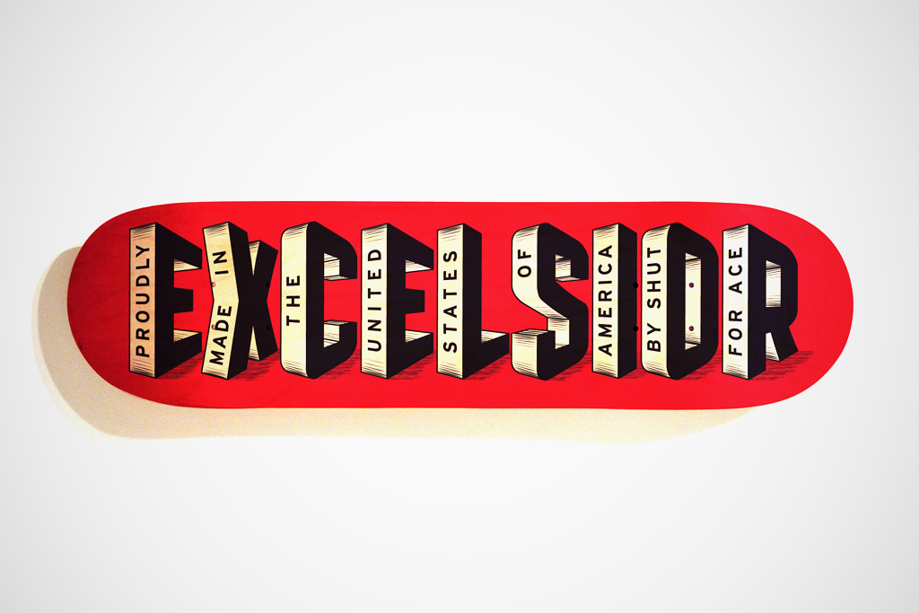 Ace Hotel x Shut Skateboards Excelsior Skate Deck