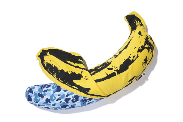 Andy Warhol x Medicom Toy x A Bathing Ape 2012 CAMO BANANA Pillow Further Look