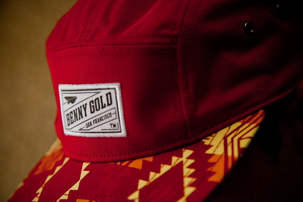 benny gold the native red 5 panel cap