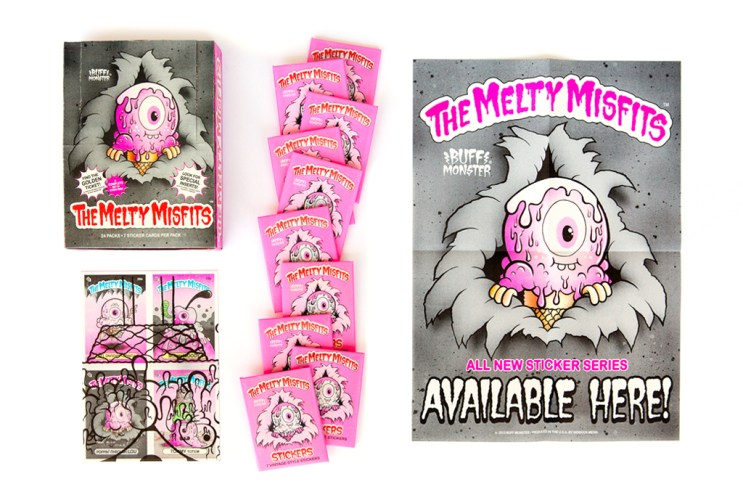 """Buff Monster """"The Melty Misfits"""" Collectible Sticker Cards"""