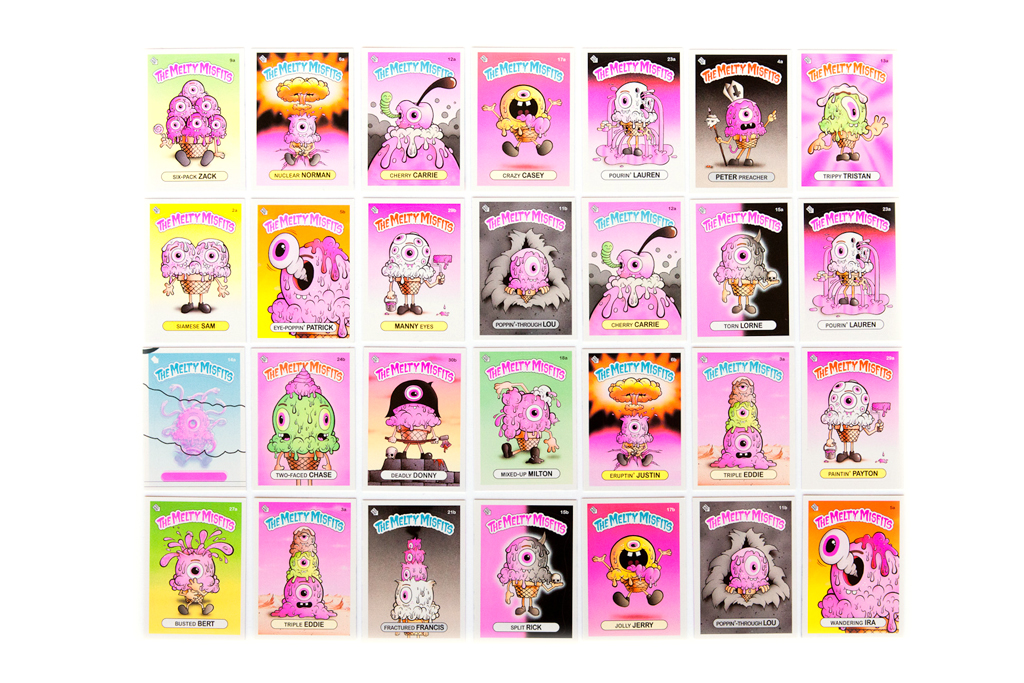 buff monster the melty misfits collectible sticker cards