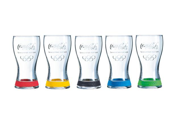 coca cola 5 glass olympic box set
