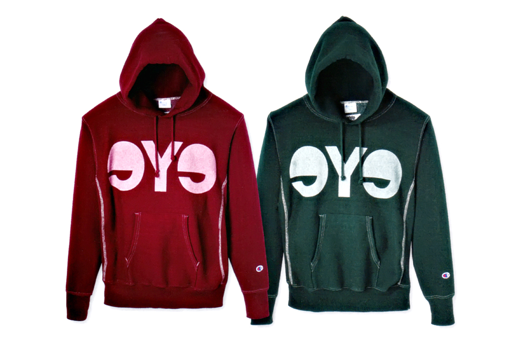 eye comme des garcons junya watanabe man x champion hooded pullover