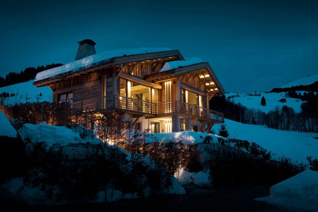 """French Alps Mountain Cabin """"Chalet Cyanella"""" by Bo Design"""