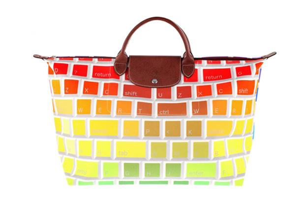 Jeremy Scott x Longchamp Multi-Colored Keyboard Travel Bag