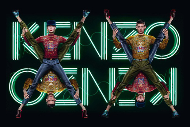 kenzo enlists jean paul goude to shoot ad campaign