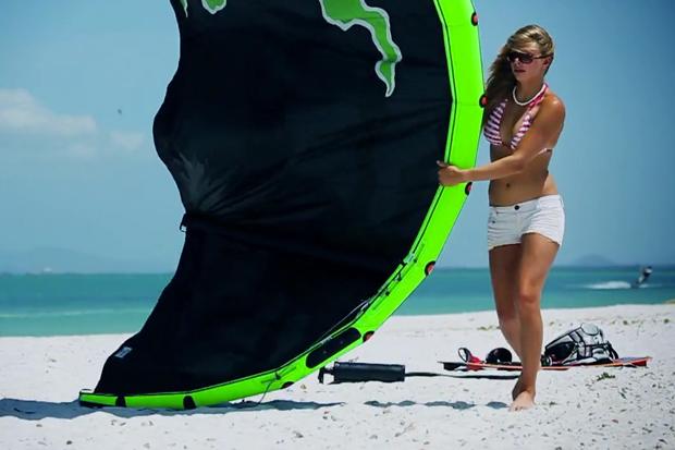 """Kiteboarder Hannah Whiteley Gets """"Lost on an Island"""" in Venezuela"""