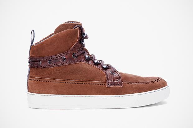 Lanvin Brown Suede Boat Sneakers
