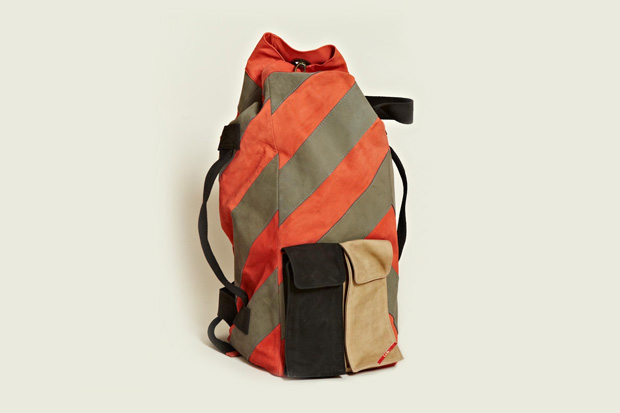 Leh Oversized Leather Duffle Backpack