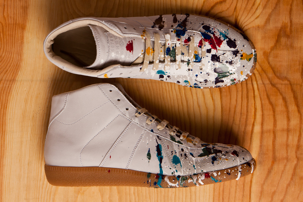 Maison martin margiela 2012 pre fall paint splatter for Replica maison martin margiela
