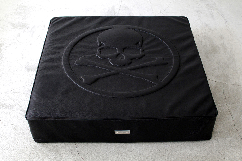 mastermind JAPAN x BUILDING Leather Floor Cushion HYPEBEAST
