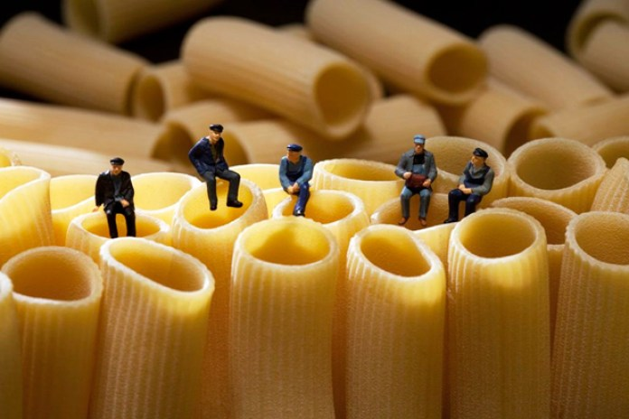 Miniature People Playing with Food by Christopher Boffoli