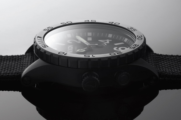 nixon 2012 springsummer all black nylon collection
