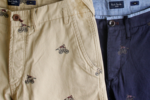 paul smith 2012 spring summer embroidered cyclist motif