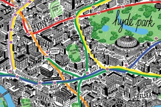 """London by Hand"" Offers a Series of Hand-Drawn Maps of London"