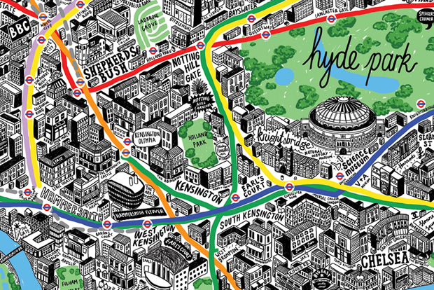 london by hand offers a series of hand drawn maps of london