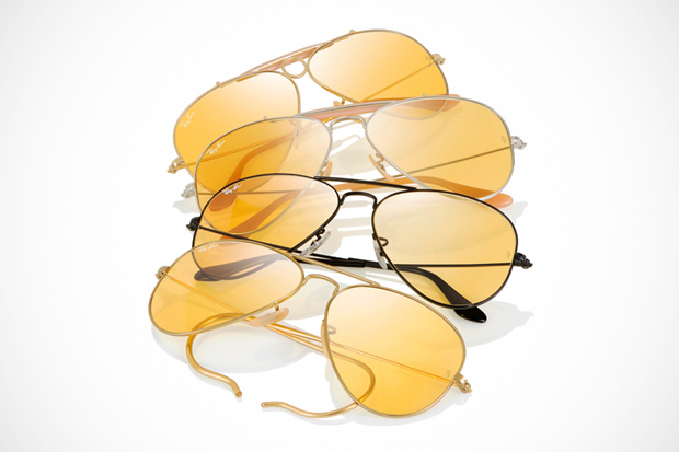 ray ban 75th anniversary ambermatic collection