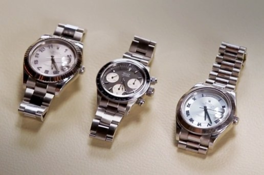 Roger Federer Shows Off His Rolex Collection