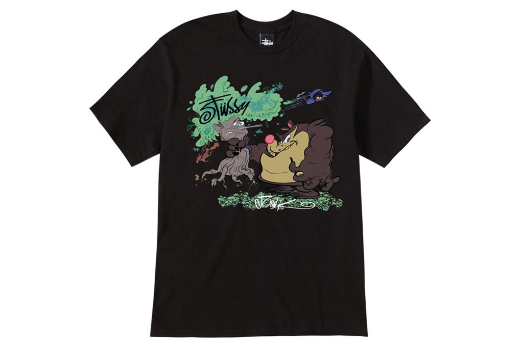 stussy x john k guest artist series t shirts