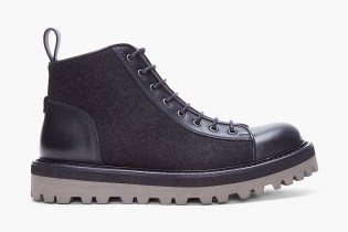 Yves Saint Laurent Black Flannel Boys Boots