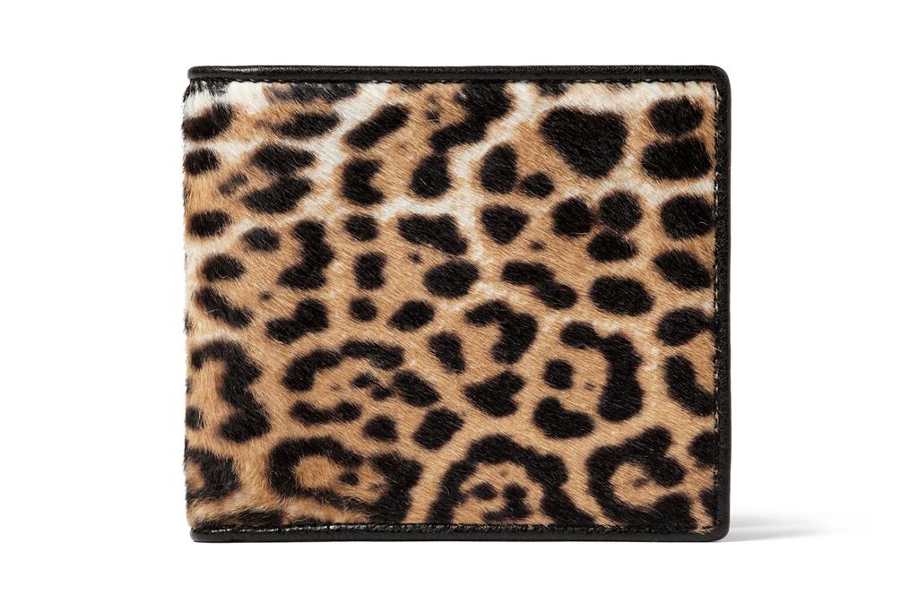 Yves Saint Laurent Leopard Print Pony Skin Wallet