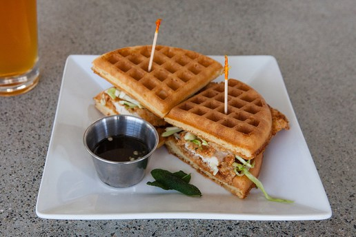 HYPEBEAST Eats... Fried Chicken Waffle Sandwich by The Iron Press