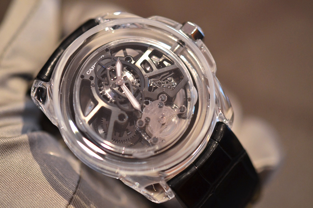 a behind the scenes look at the cartier id two concept watch