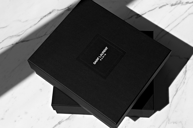a look at new saint laurent paris packaging
