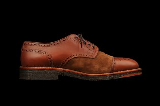 Alden 2012 Bluxome Two Tone Straight Tip Medallion Toe Spectator