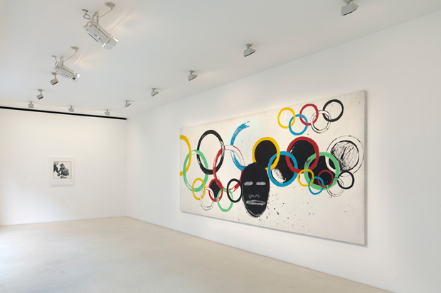 """Andy Warhol and Jean-Michel Basquiat """"Olympic Rings"""" @ Gagosian Gallery"""