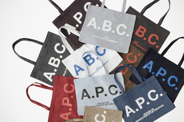 art berlin contemporary x A.P.C. Tote Bag Collection
