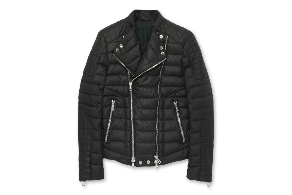 balmain 2012 fall biker down jacket