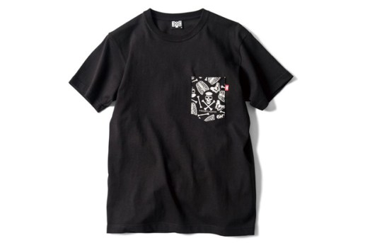 BOUNTY HUNTER BxH SKULL PATTERN Pocket T-Shirt