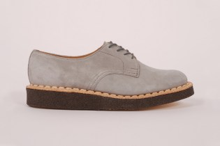 British Remains First Creeper Grey Suede