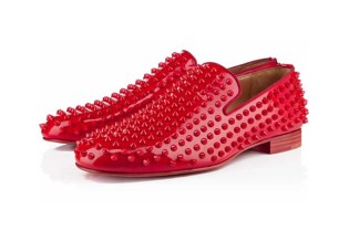 Christian Louboutin Red Patent Leather Rollerboy Spikes