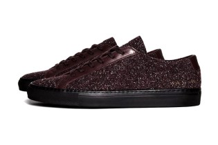 Common Projects Achilles Burgundy Wool Sneaker