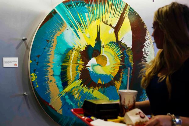 Damien Hirst Donates Original Spin Painting to Burger King