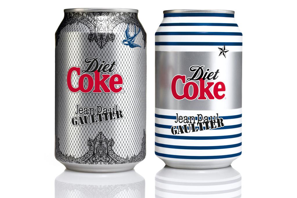 diet coke by jean paul gaultier night day cans