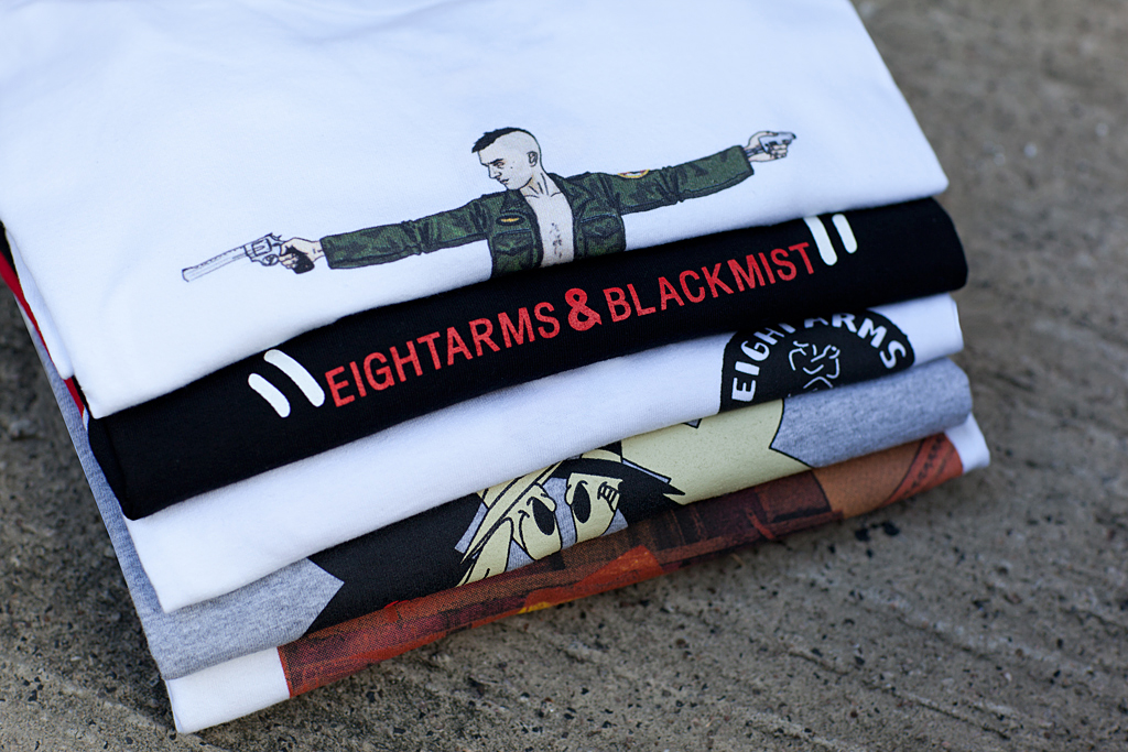 eightarms blackmist 2012 spring summer t shirt collection