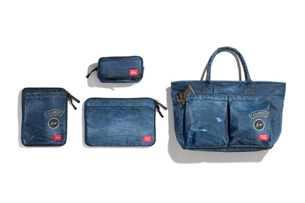 fragment design x head porter denim print bag collection