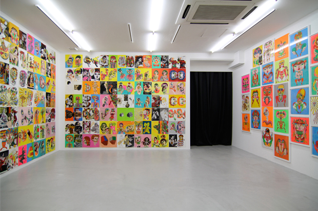 keiichi tanaami new animation and drawings exhibition nanzuka recap
