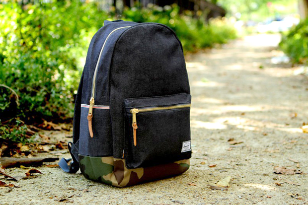 kith x herschel supply co selvage denim backpack