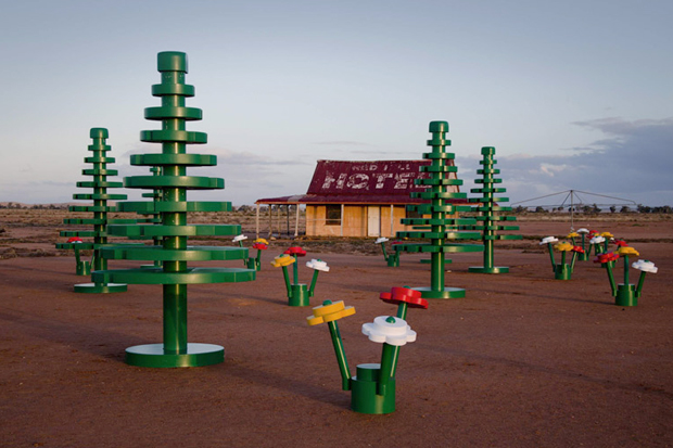 lego sets up life sized forest in australian outback