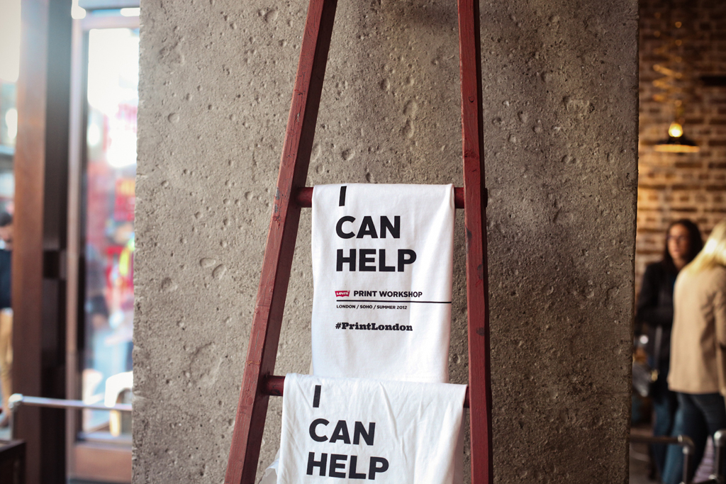 Levi's Print Workshop in London with Anthony Burrill