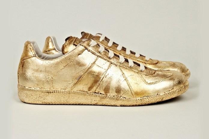 Maison Martin Margiela Gold Foil Replica Sneakers