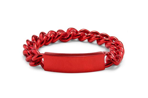 Maison Martin Margiela Red ID Bracelet